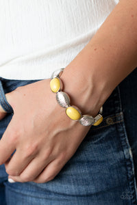 Paparazzi Decadently Dewy - Yellow Bracelet