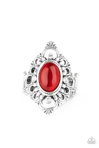 Paparazzi Elegantly Enchanted - Red Ring