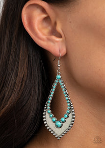 Paparazzi Essential Minerals - Blue Earrings