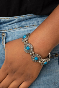 Paparazzi Flirty Finery Blue Bracelet