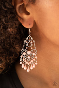 Paparazzi Glass Slipper Glamour - Pink Earrings