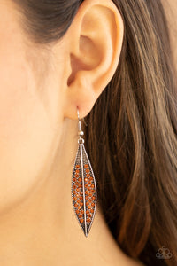 Paparazzi Hearty Harvest - Brown Earrings