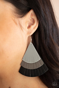 Paparazzi Huge Fanatic Black Earrings
