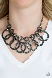 Paparazzi Jammin Jungle Black Necklace