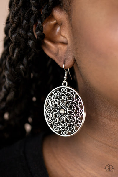 Paparazzi Petal Prana - Silver Earrings