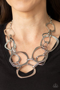 Paparazzi Salvage Yard Silver Necklace