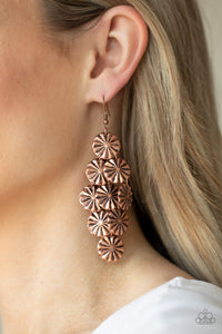 Paparazzi Star Spangled Shine - Copper Earrings