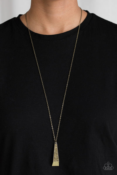 Paparazzi Prized Pendulum - Brass Necklace