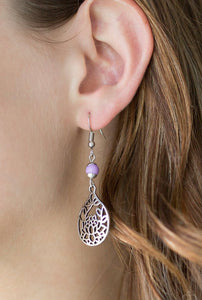 Paparazzi In Bloom - Purple Earrings