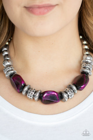 Paparazzi Colorfully Confident - Purple Necklace