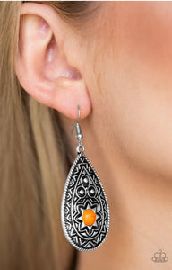 Paparazzi Summer Sol - Orange Earrings