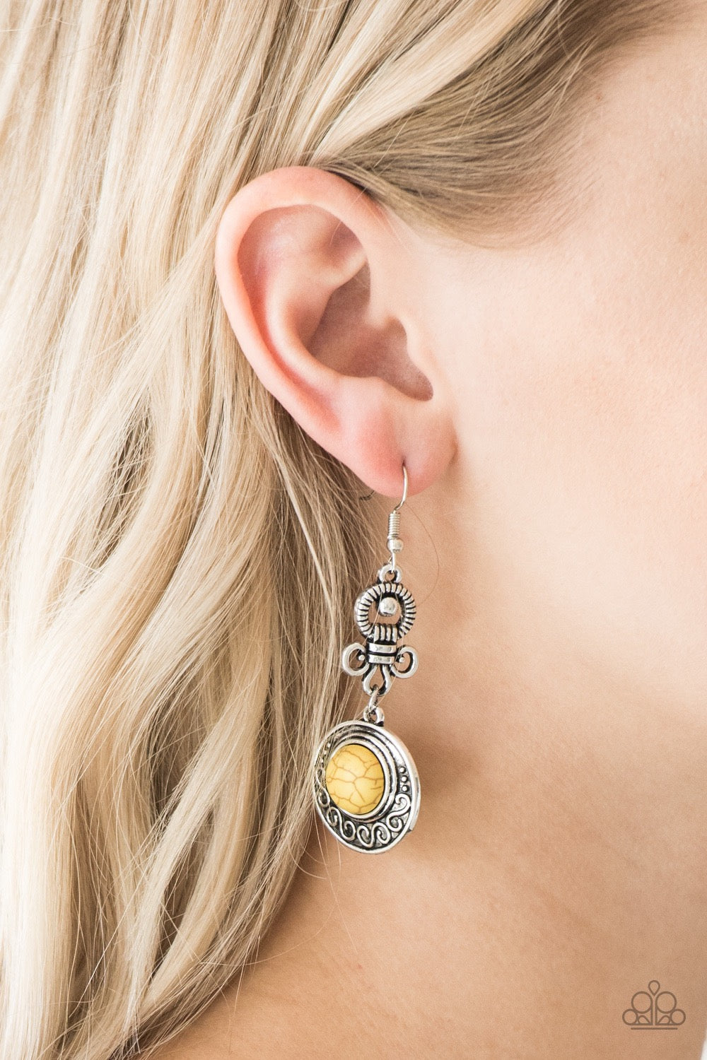 Paparazzi Southern Serenity - Yellow Earrings