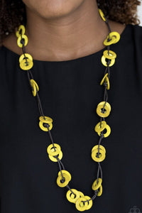 Paparazzi Waikiki Winds - Yellow Necklace