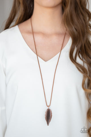 Paparazzi Feather Forager - Copper Necklace