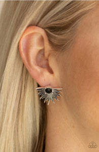 Paparazzi Starry Light - Black Earrings