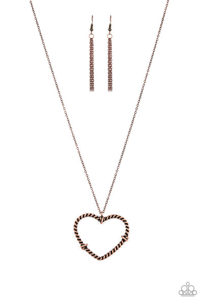 Paparazzi Straight From The Heart - Copper Necklace