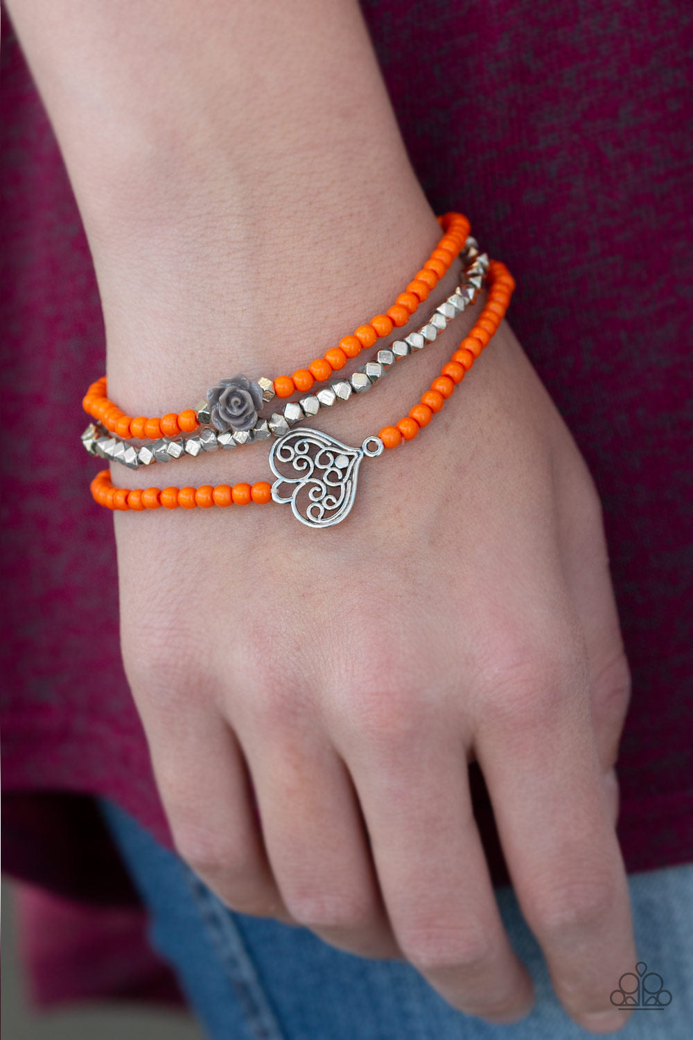 Paparazzi Lovers Loot - Orange Bracelet