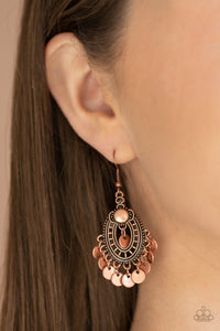 Paparazzi Chime Chic - Copper Earrings