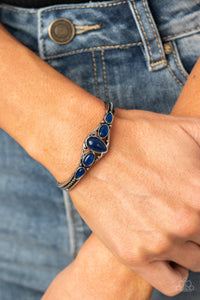 Paparazzi Dream Beam - Blue Cuff Bracelet