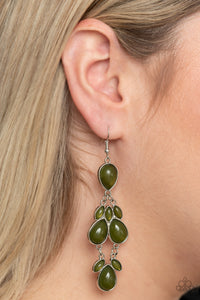 Paparazzi Superstar Social Green Earrings