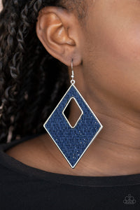 Paparazzi Woven Wanderer Blue Earrings