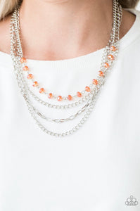 Paparazzi Extravagant Elegance - Orange Necklace