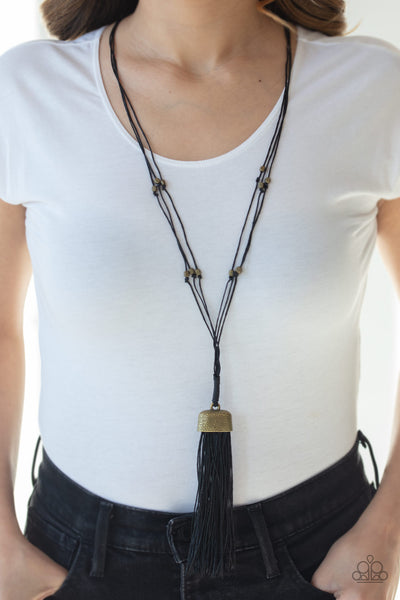 Paparazzi Brush It Off - Brass Necklace