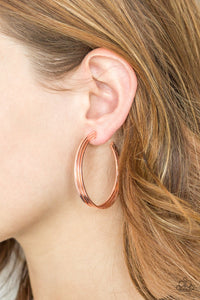 Paparazzi HAUTE Gossip - Copper Earrings