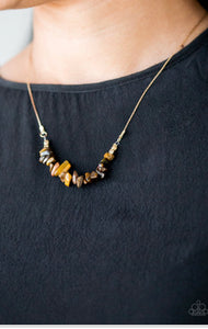 Paparazzi Back To Nature - Brown Necklace
