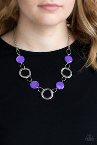 Paparazzi Bermuda Bliss - Purple Necklace