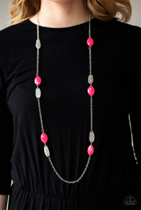 Paparazzi Beachfront Beauty - Pink Necklace