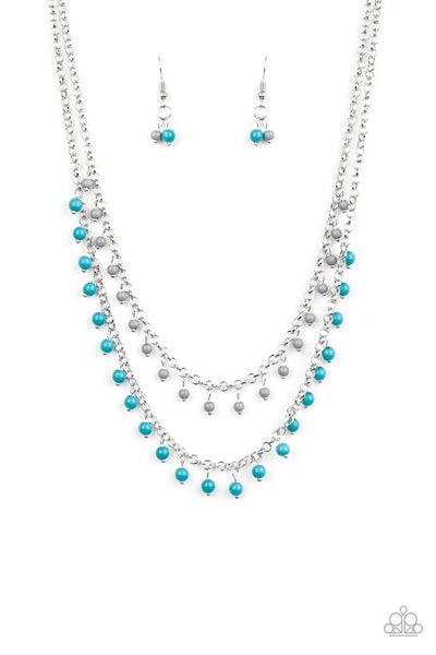 Paparazzi Dainty Distraction - Blue Necklace