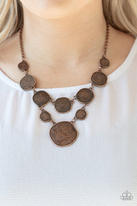 Paparazzi Metallic Patchwork Copper Necklace