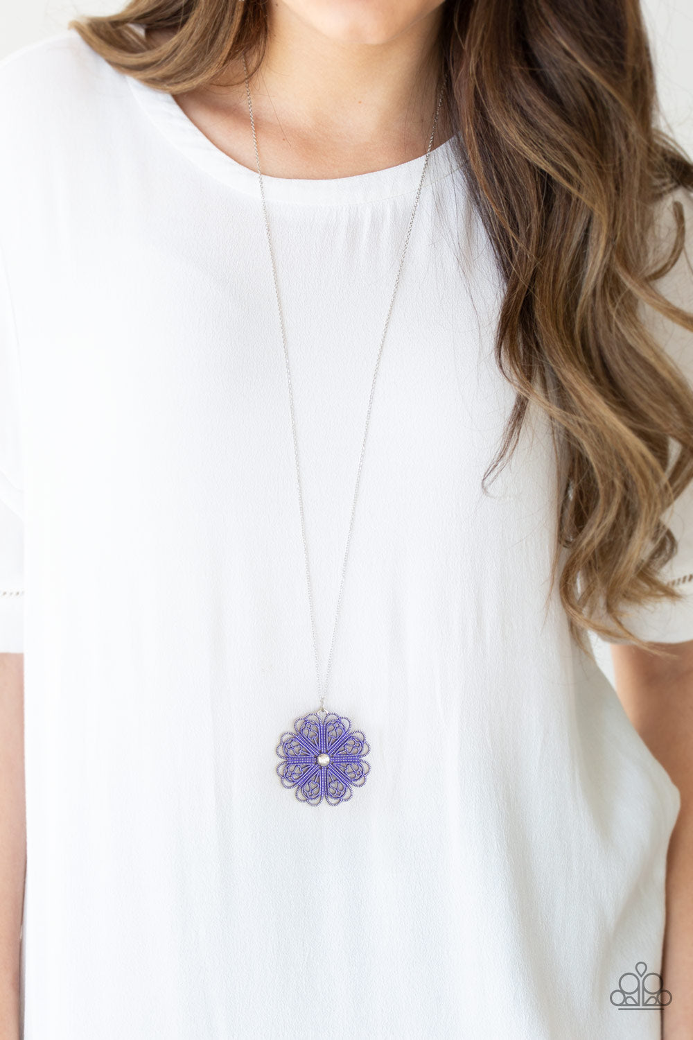 Paparazzi Spin Your PINWHEELS - Purple Necklace