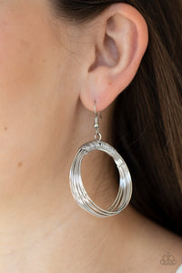 Paparazzi Urban-Spun Silver Earrings