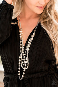 Paparazzi New York City Chic White Necklace