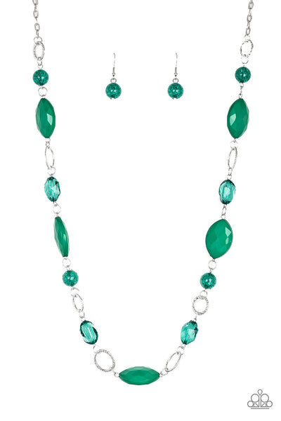 Paparazzi Shimmer Shimmer Green Necklace