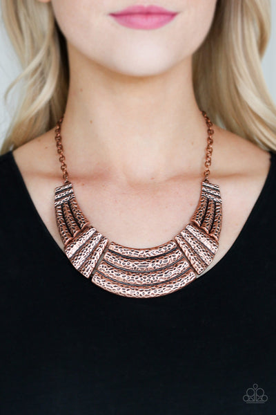 Paparazzi Ready To Pounce - Copper Necklace