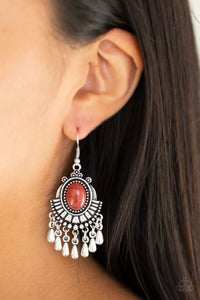 Paparazzi Onward and Westward - Brown Earrings