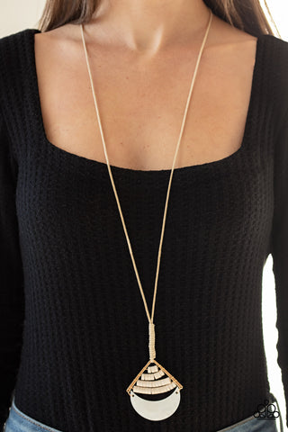 Paparazzi Beach Beam - Gold Necklace