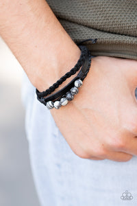 Paparazzi Off-Road Rebel Black Urban Bracelet