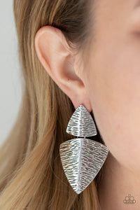 Paparazzi PRIMAL Factors Silver Earrings