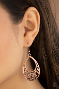 Paparazzi Stylish Serpentine Copper Earrings