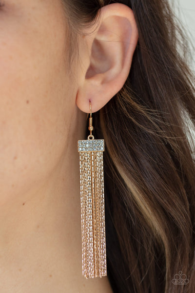 Paparazzi Twinkling Tapestry - Gold Earrings