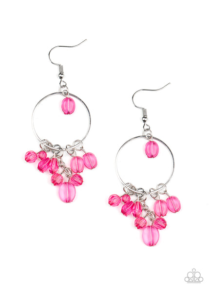 Paparazzi Where The Sky Touches The Sea - Pink Earrings