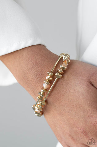 Paparazzi Get The GLOW On The Road - Gold Bracelet