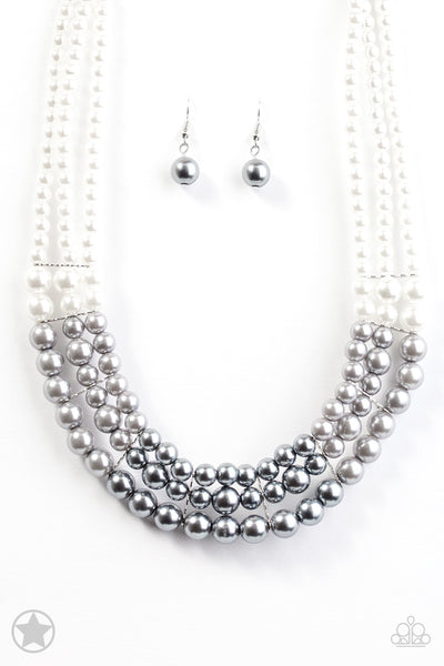 Paparazzi Lady In Waiting Silver Blockbuster Necklace
