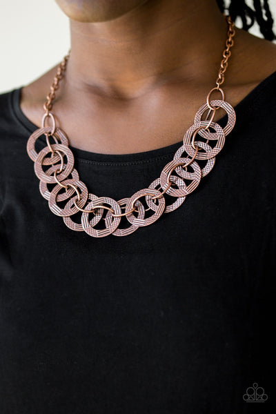 Paparazzi The Main Contender - Copper Necklace