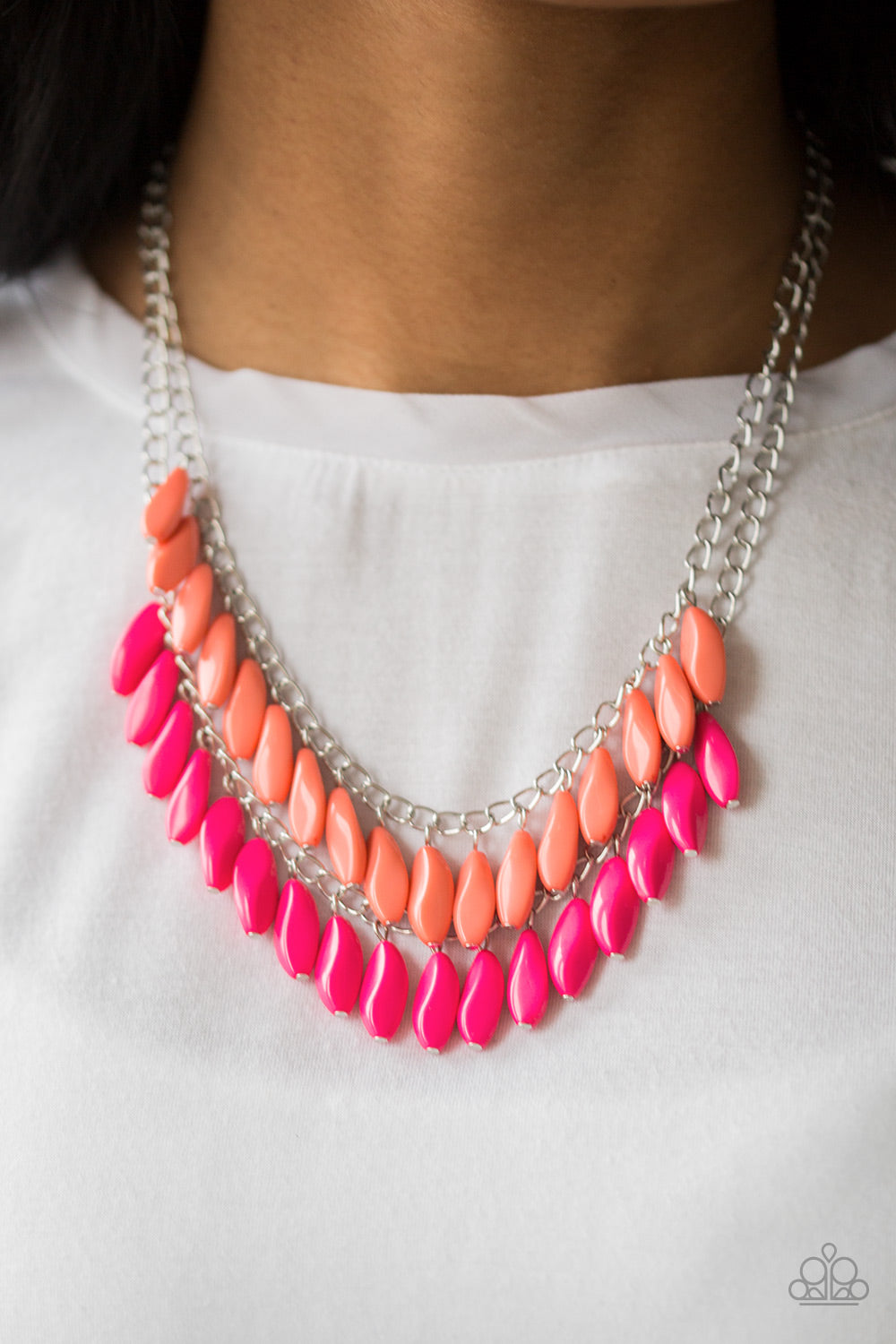 Paparazzi Beaded Boardwalk - Pink Necklace