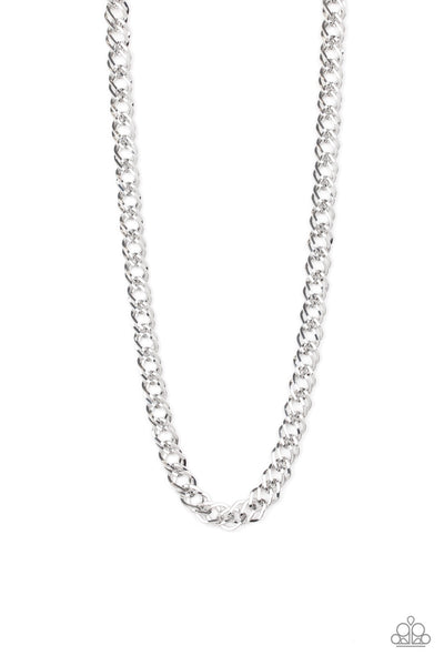 Paparazzi Undefeated - Silver Necklace